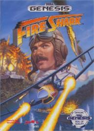 Box cover for Fire Shark on the Sega Nomad.