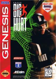 Box cover for Frank Thomas Big Hurt Baseball on the Sega Nomad.