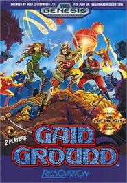 Box cover for Gain Ground on the Sega Nomad.