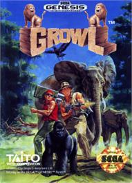Box cover for Growl on the Sega Nomad.