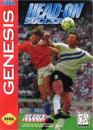 Box cover for Head-On Soccer on the Sega Nomad.