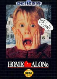 Box cover for Home Alone on the Sega Nomad.