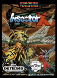 Box cover for Insector-X on the Sega Nomad.