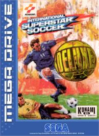 Box cover for International Superstar Soccer Deluxe on the Sega Nomad.