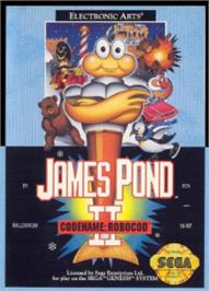 Box cover for James Pond 2: Codename: RoboCod on the Sega Nomad.