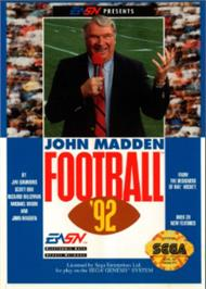 Box cover for John Madden Football '92 on the Sega Nomad.