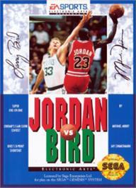 Box cover for Jordan vs. Bird: One-on-One on the Sega Nomad.