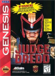 Box cover for Judge Dredd on the Sega Nomad.
