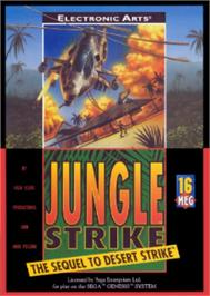 Box cover for Jungle Strike on the Sega Nomad.