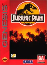 Box cover for Jurassic Park on the Sega Nomad.