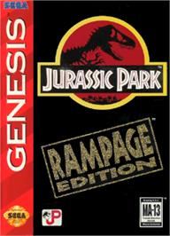 Box cover for Jurassic Park - Rampage Edition on the Sega Nomad.
