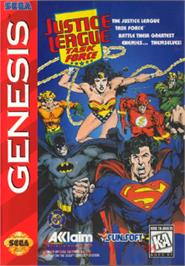 Box cover for Justice League Task Force on the Sega Nomad.