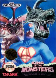 Box cover for King of the Monsters on the Sega Nomad.
