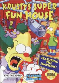 Box cover for Krusty's Fun House on the Sega Nomad.