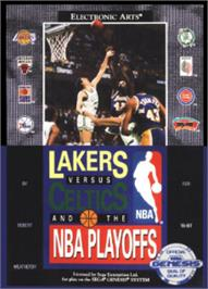 Box cover for Lakers vs. Celtics and the NBA Playoffs on the Sega Nomad.