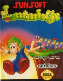Box cover for Lemmings on the Sega Nomad.