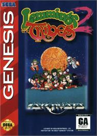 Box cover for Lemmings 2: The Tribes on the Sega Nomad.