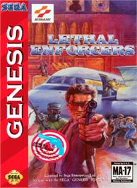 Box cover for Lethal Enforcers on the Sega Nomad.