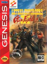 Box cover for Lethal Enforcers II: Gun Fighters on the Sega Nomad.