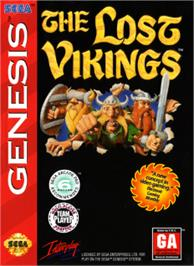 Box cover for Lost Vikings, The on the Sega Nomad.