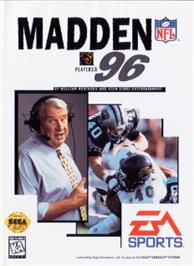 Box cover for Madden NFL '96 on the Sega Nomad.