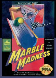 Box cover for Marble Madness on the Sega Nomad.