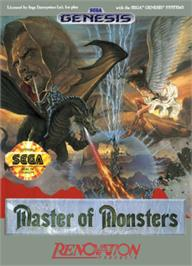 Box cover for Master of Monsters on the Sega Nomad.