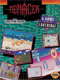 Box cover for Menacer 6-Game Cartridge on the Sega Nomad.