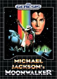 Box cover for Michael Jackson's Moonwalker on the Sega Nomad.