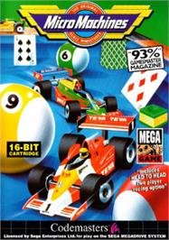 Box cover for Micro Machines on the Sega Nomad.
