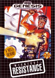 Box cover for Midnight Resistance on the Sega Nomad.