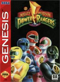 Box cover for Mighty Morphin Power Rangers on the Sega Nomad.