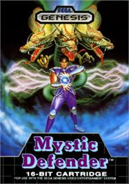 Box cover for Mystic Defender on the Sega Nomad.