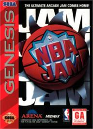 Box cover for NBA Jam on the Sega Nomad.