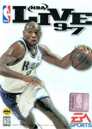 Box cover for NBA Live '97 on the Sega Nomad.