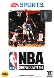 Box cover for NBA Showdown on the Sega Nomad.