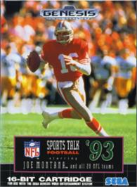 Box cover for NFL Sports Talk Football '93 Starring Joe Montana on the Sega Nomad.