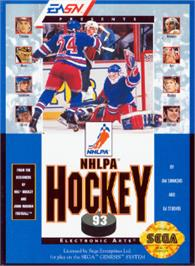 Box cover for NHLPA Hockey '93 on the Sega Nomad.