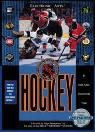Box cover for NHL Hockey on the Sega Nomad.