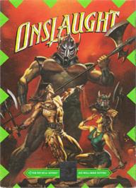 Box cover for Onslaught on the Sega Nomad.