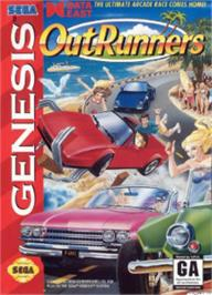 Box cover for OutRunners on the Sega Nomad.