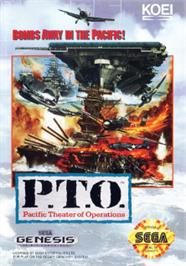 Box cover for P.T.O.: Pacific Theater of Operations on the Sega Nomad.