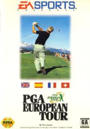 Box cover for PGA European Tour on the Sega Nomad.