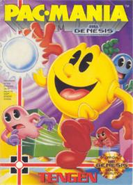 Box cover for Pac-Mania on the Sega Nomad.