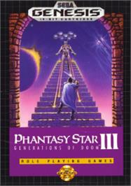 Box cover for Phantasy Star 3: Generations of Doom on the Sega Nomad.