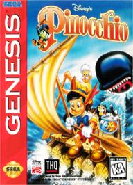 Box cover for Pinocchio on the Sega Nomad.