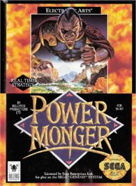 Box cover for Powermonger on the Sega Nomad.