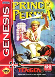 Box cover for Prince of Persia on the Sega Nomad.