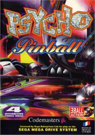 Box cover for Psycho Pinball on the Sega Nomad.