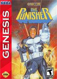 Box cover for Punisher, The on the Sega Nomad.